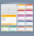 calendar 2017 print template design vector image