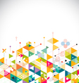 Abstract colorful and creative geometrical vector image vector image