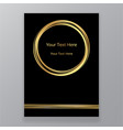 abstract golden black circle luxury elegant vector image vector image