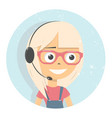 advises client online consultants girl vector image