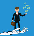 ai robot help business man making money vector image
