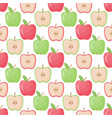 apple seamless pattern flat design vector image vector image