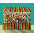 Art hand made fair toys seller vector image