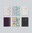 artistic notebook covers design vector image vector image