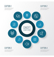 audio outline icons set collection of stringed vector image vector image