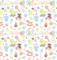 Baby shower seamless pattern Texture for baby girl vector image vector image