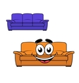 Cartoon couch furniture vector image vector image
