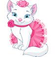 cat princess vector image vector image