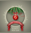 christmas and happy new year wish with gift boxes vector image