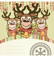 Christmas background card vector image