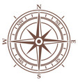 compass in vintage style on white background vector image