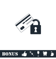 Credit Card Security icon flat vector image vector image