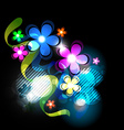 dark flower background vector image