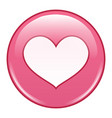 emoji emoticon icon emoji in love emotion vector image