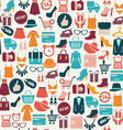 fashion background shopping icons vector image vector image