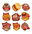 fast food logos and emblems set3 vector image vector image