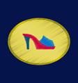 flat shading style icon footwear flip flops heels vector image vector image