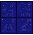 Four Zodiac signs Aries Taurus Gemini Cancer vector image vector image