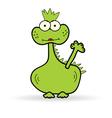 funny dinosaur color vector image vector image