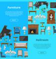 furniture seamless pattern furnishings vector image