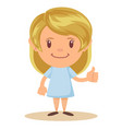 girl thumbs up vector image