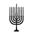 hanukkah icon for web design vector image vector image
