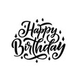 happy birthday beautiful greeting lettering for vector image