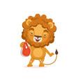 happy lion cartoon character vector image vector image