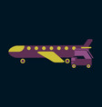 icon in flat design for airport airplane gangway vector image vector image