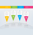 infographic template with 4 options or steps vector image