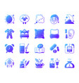 insomnia simple gradient icons set vector image vector image
