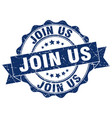 join us stamp sign seal vector image vector image