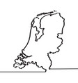 map of the netherlands continous line vector image vector image