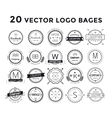 Massive logo set bundle vector image vector image