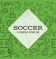 modern design background soccer sign icon vector image vector image