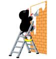 mole plastering wall vector image vector image