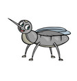 mosquito friendly cute insect cartoon vector image vector image