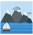 mountains with clouds design vector image