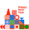 new year christmas greeting card poster vector image vector image