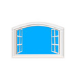 open window blue sky sun light view realistic vector image