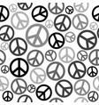 peace sign seamless background vector image vector image