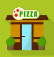 pizza shop icon flat style vector image vector image