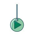 play button hanging icon vector image vector image
