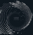 radial halftone dots background vector image