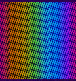 rainbow cloth texture vector image vector image