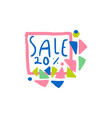 sale 20 percent off logo special offer label vector image vector image