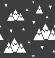 seamless pattern made of mountains and vector image vector image