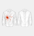 set of of white male shirt vector image vector image