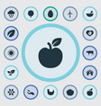 set of simple ecology icons vector image vector image