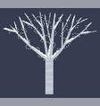 snowy tree with garlands isolated winter time vector image vector image